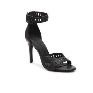 Joie Airlie Black Leather Cutout Sandals